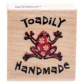 Toadily Handmade Rubber Stamp
